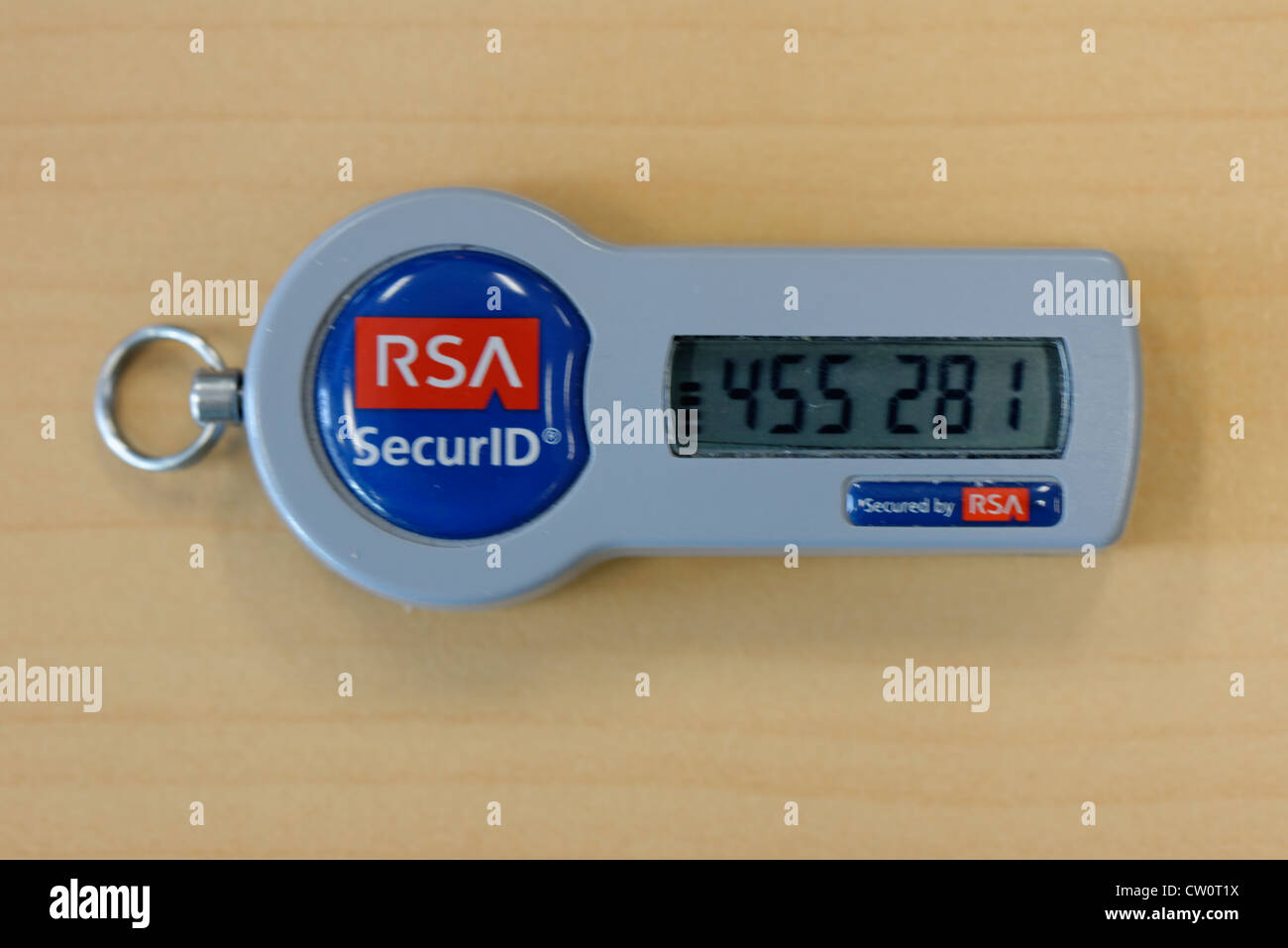 RSA Secure ID token fob, computer security - Stock Image