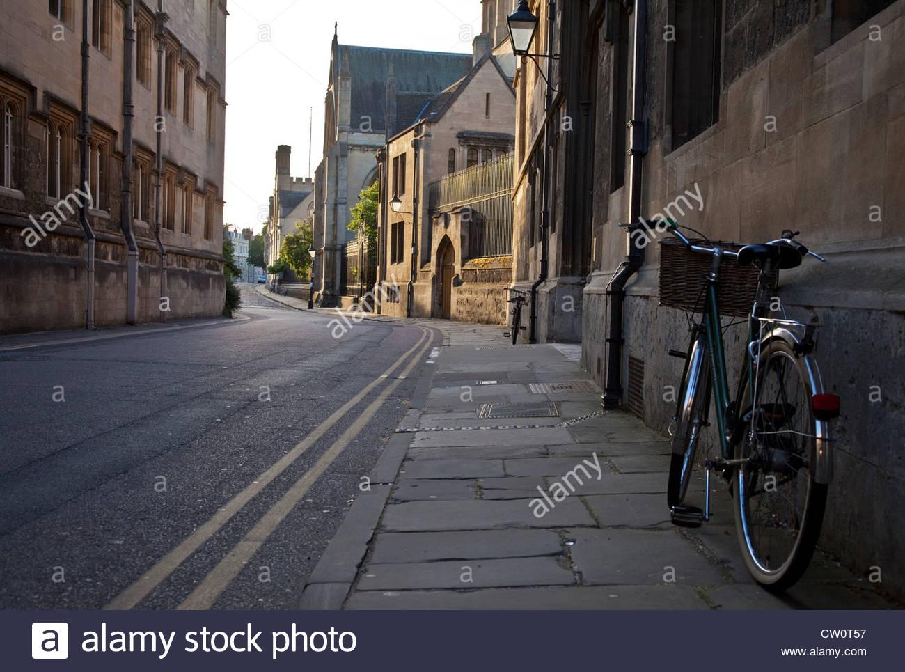 Corpus Christi College Oxford Merton Street - Stock Image