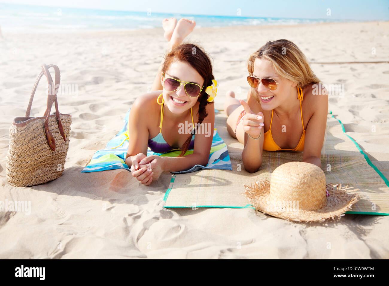 beach holiday - Stock Image