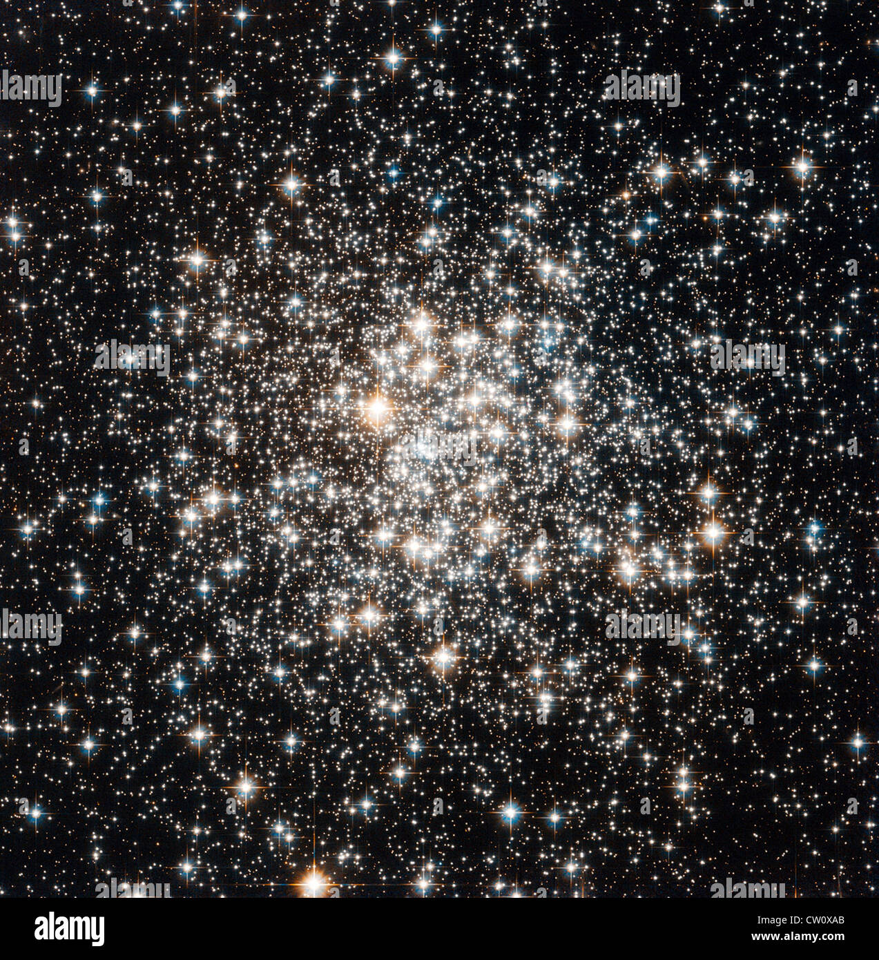NASA/ESA Hubble Space Telescope has captured a crowd of stars known as Messier 107  in the constellation of Ophiuchus - Stock Image