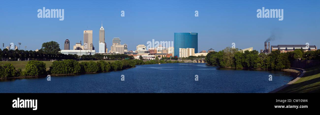 Indianapolis Indiana Skyline - Stock Image
