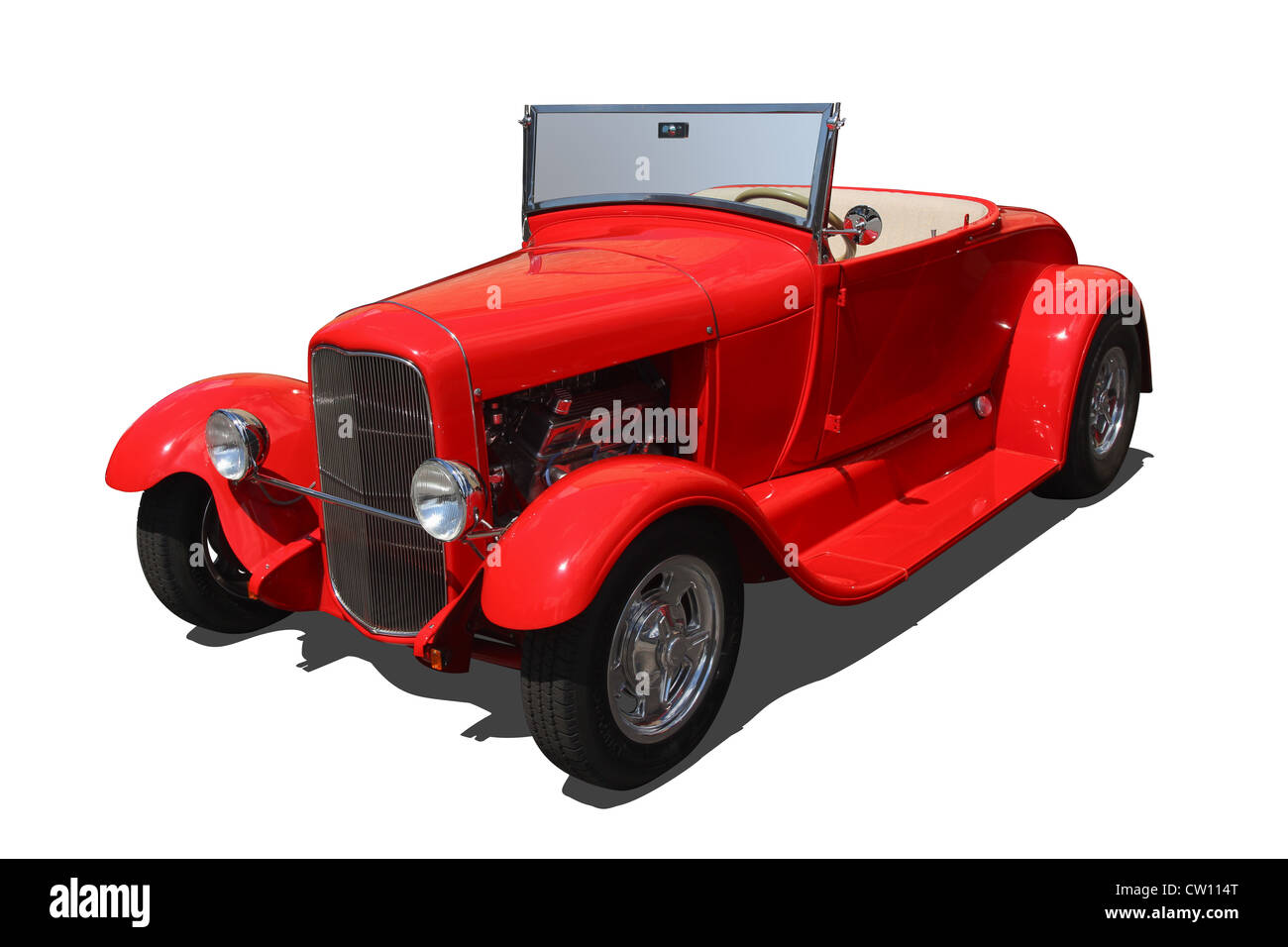 Auto- Red Roadster. - Stock Image