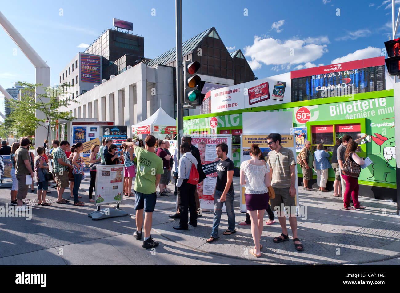 Just for Laughs festival box office Montreal. - Stock Image
