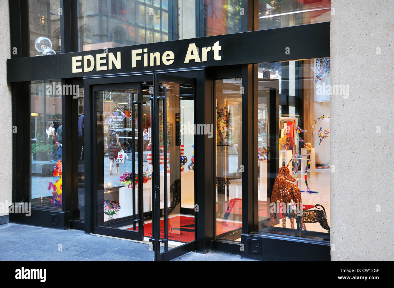 Eden Fine Art store and gallery, New York, USA - Stock Image