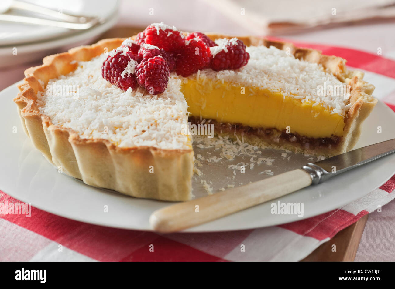 Manchester Tart Traditional food UK - Stock Image