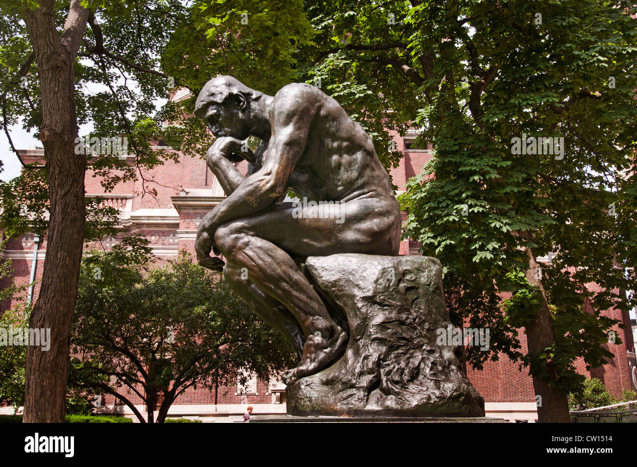 Le Penseur The Thinker Rodin Columbia University ( in the City of New York ) Upper West Side Harlem United States - Stock Image