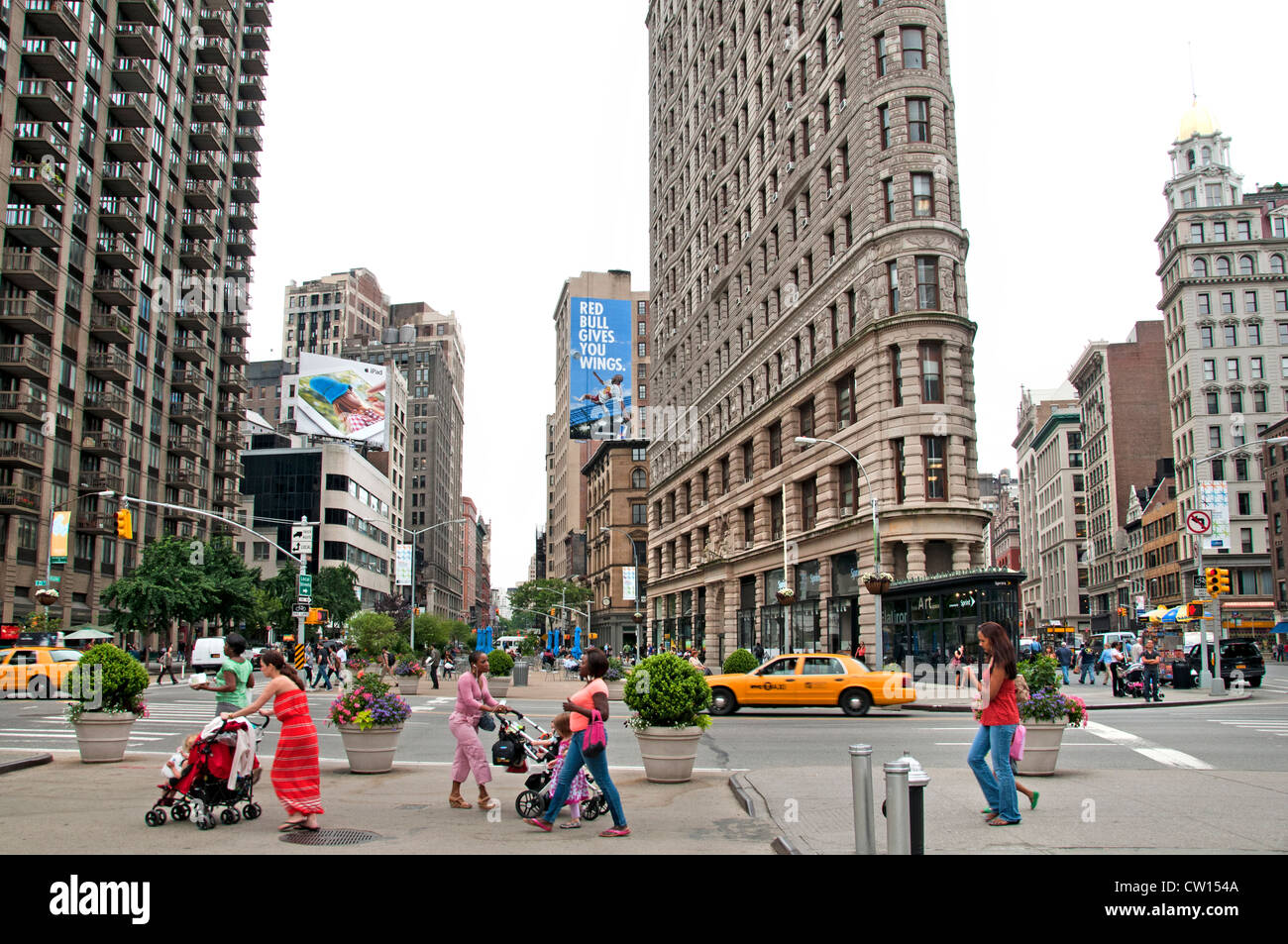 Flatiron Building District Broadway 5th Avenue Manhattan New York City United States of America - Stock Image