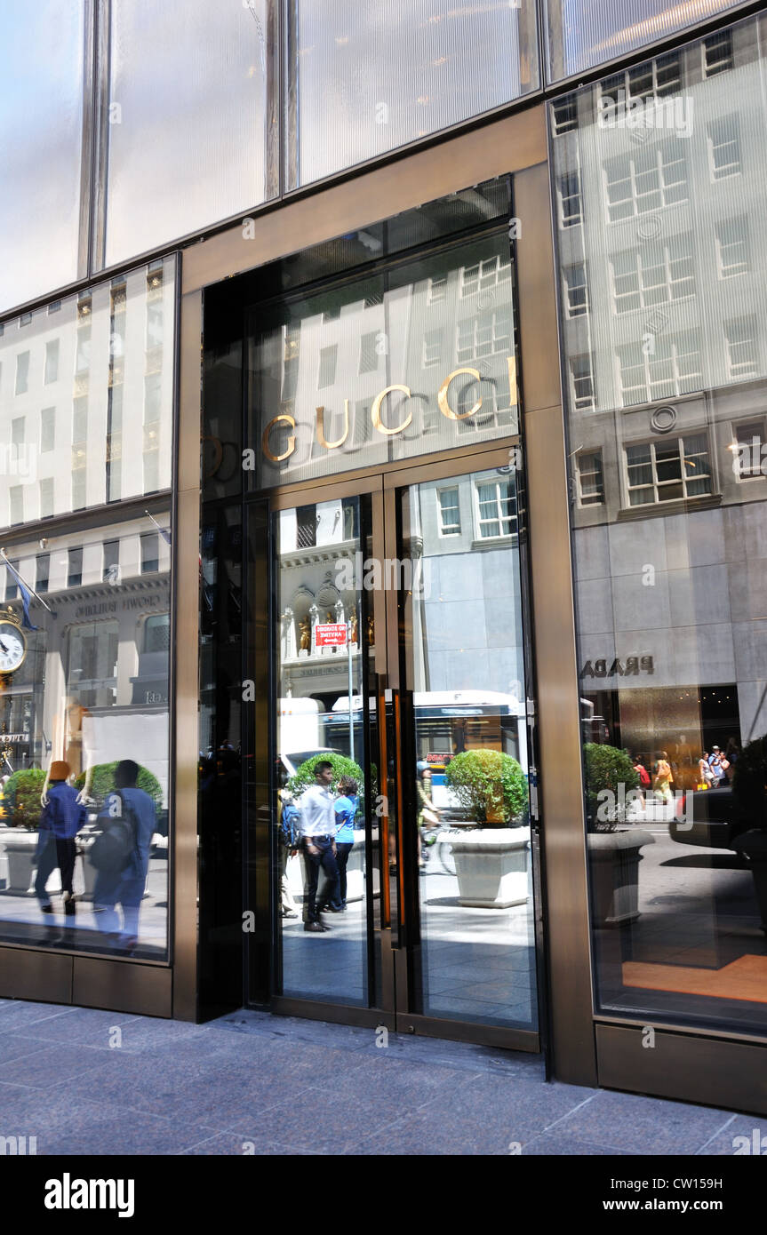 gucci store new york stock photos gucci store new york. Black Bedroom Furniture Sets. Home Design Ideas