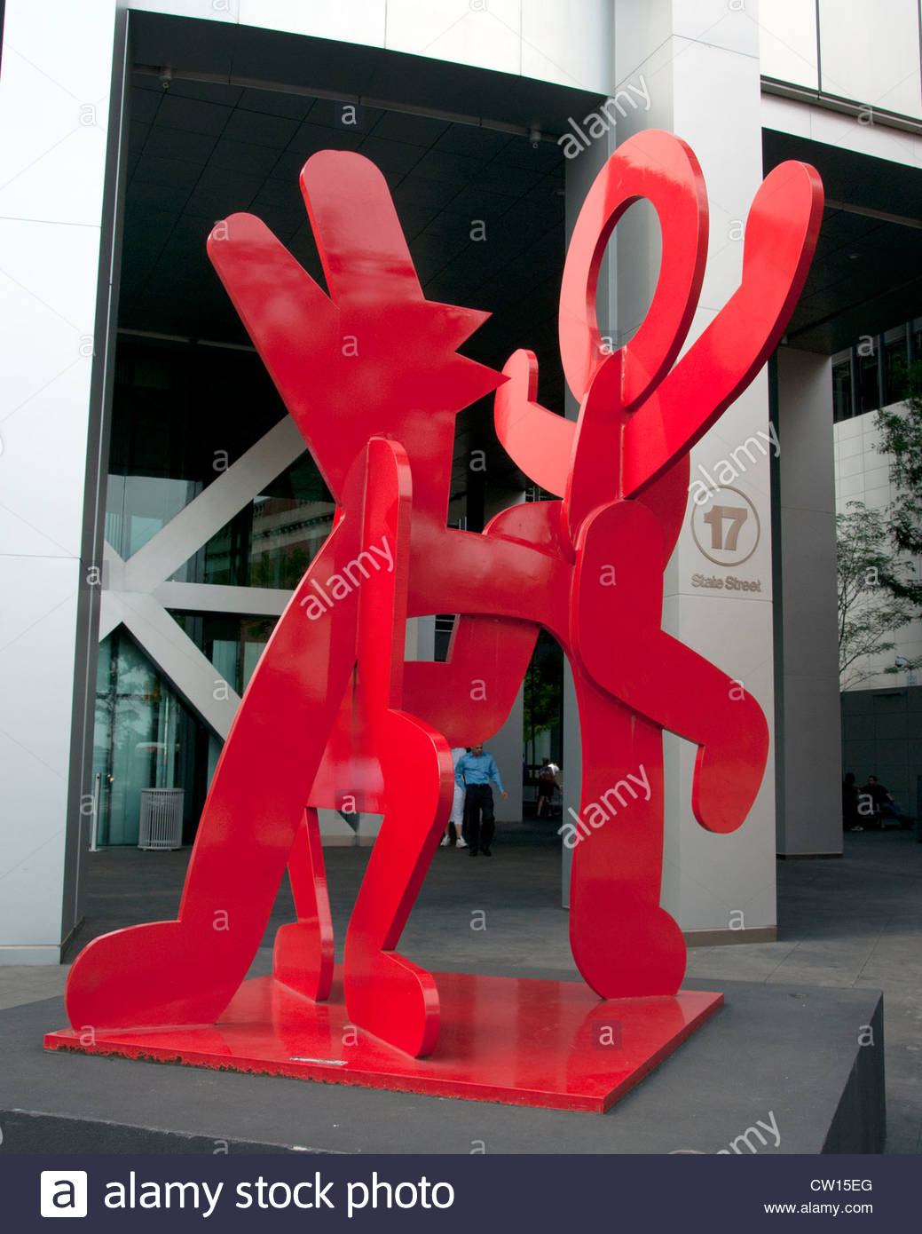 Two dancing figures 1989  Manhattan New York City Keith Haring 1958-1980  American United States of America - Stock Image