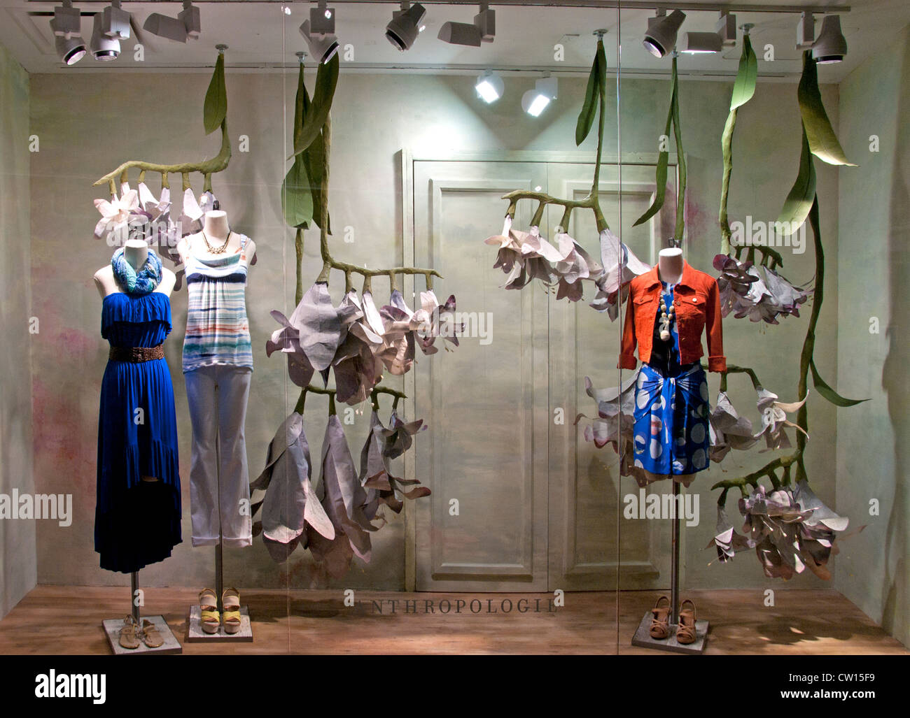 Antropologie Fashion shop  Chelsea Market Meatpacking District  Manhattan New York City - Stock Image