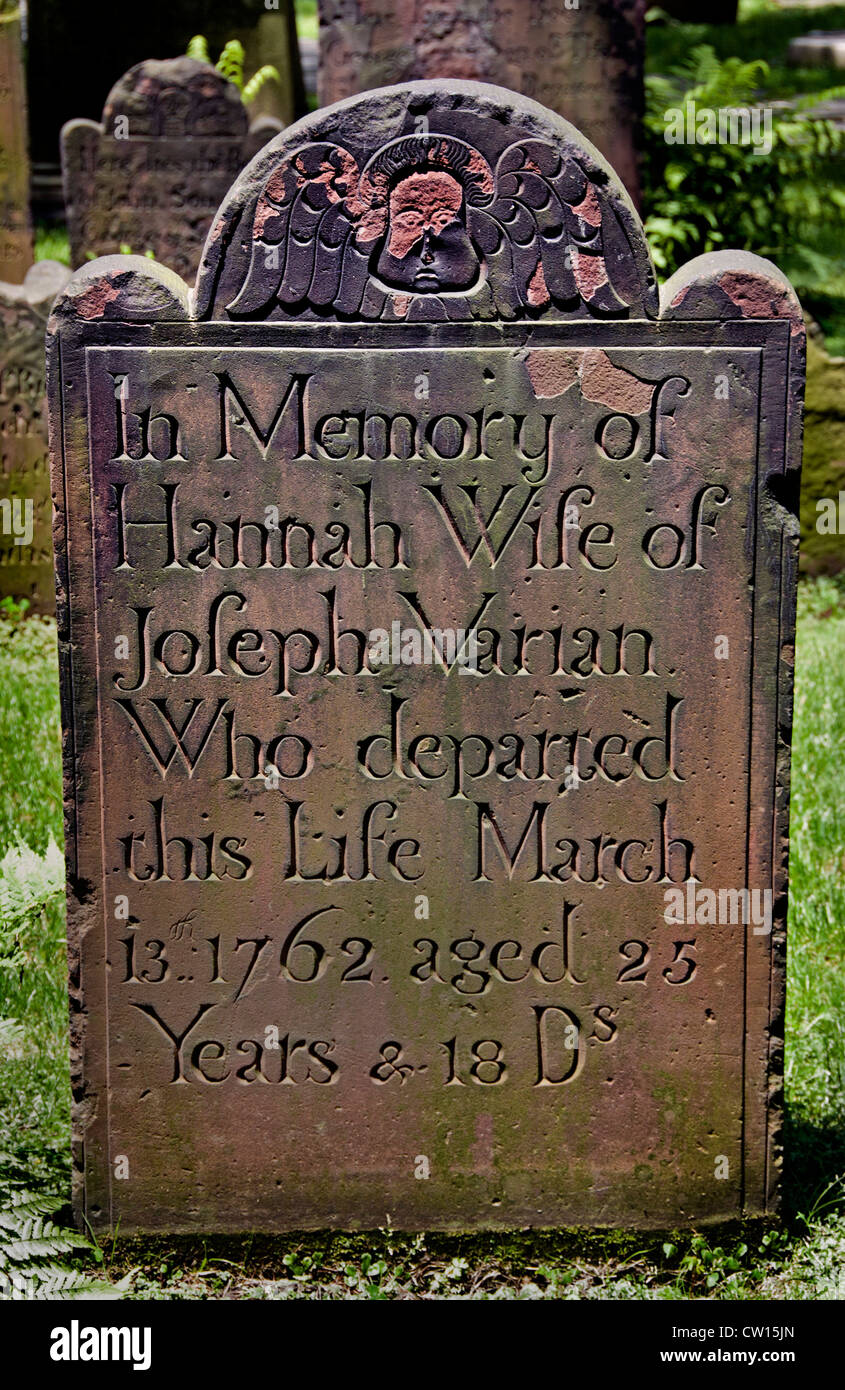 Memory of Hannah Varian Joseph Varian Trinity Episcopal Church Broadway Lower Manhattan  New York City United States - Stock Image