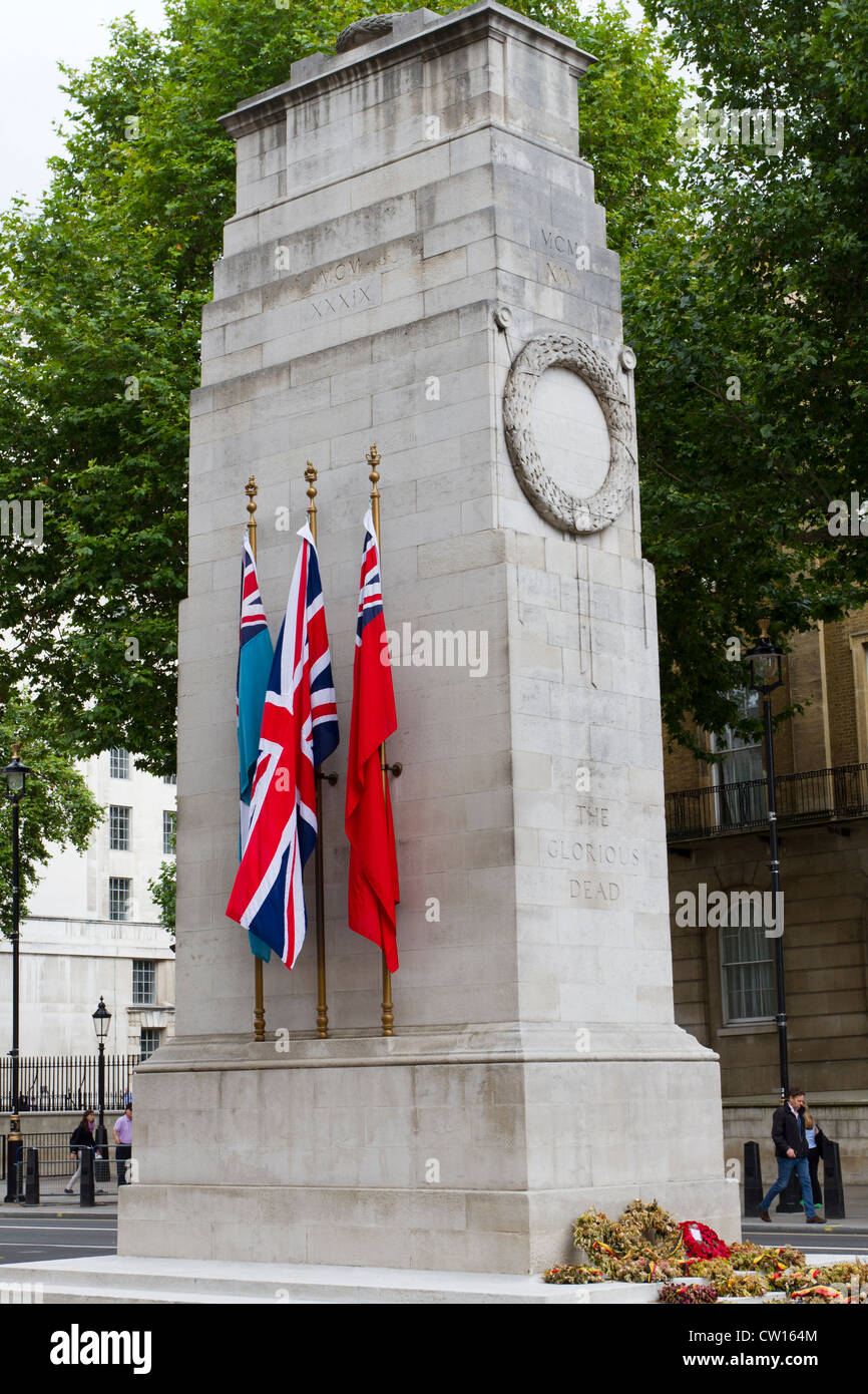 The Cenotaph, Whitehall, London, England, UK - Stock Image