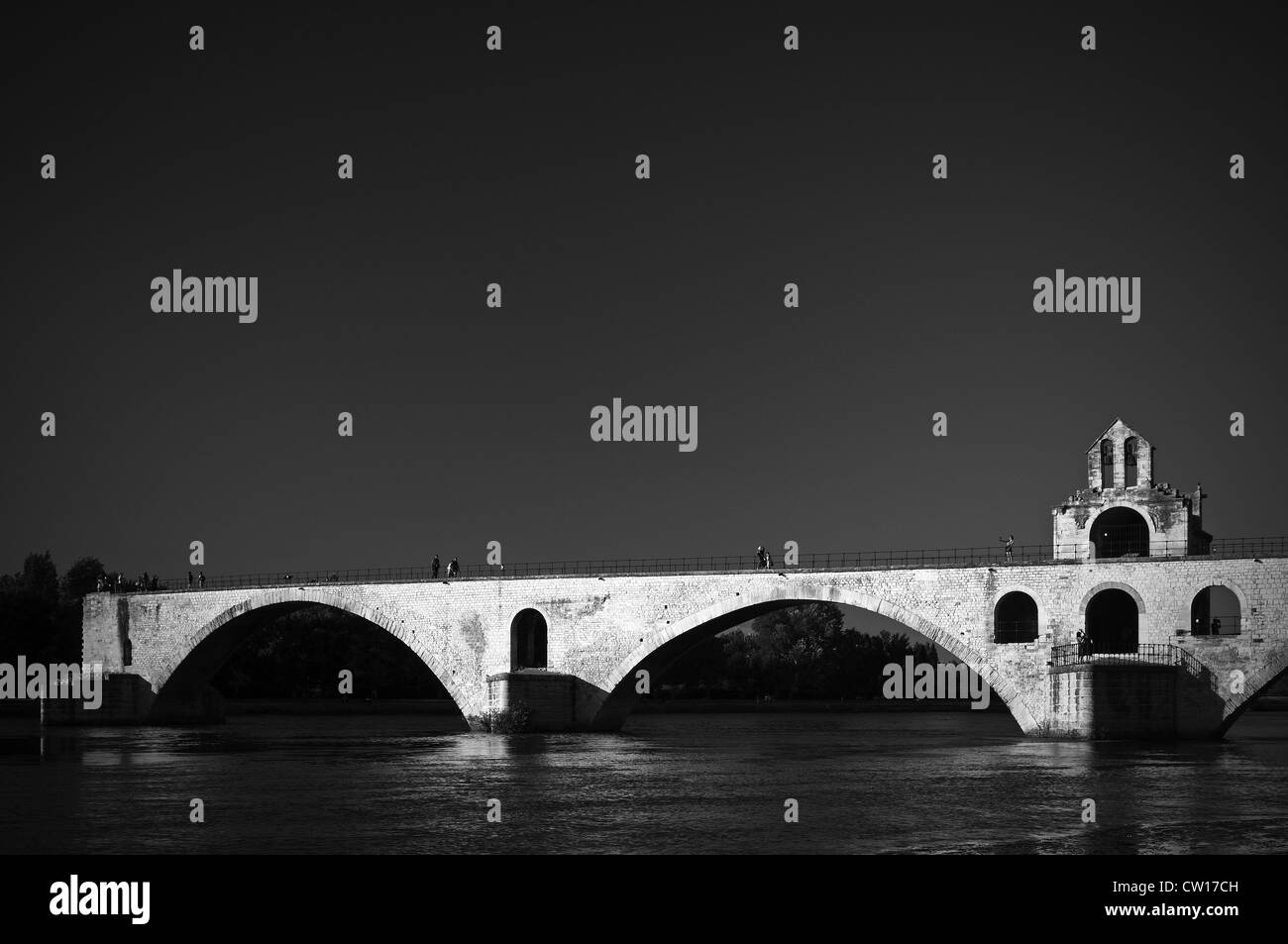 Avignon France. 2012. Saint Bénezet Bridge Pont d'Avignon - Stock Image