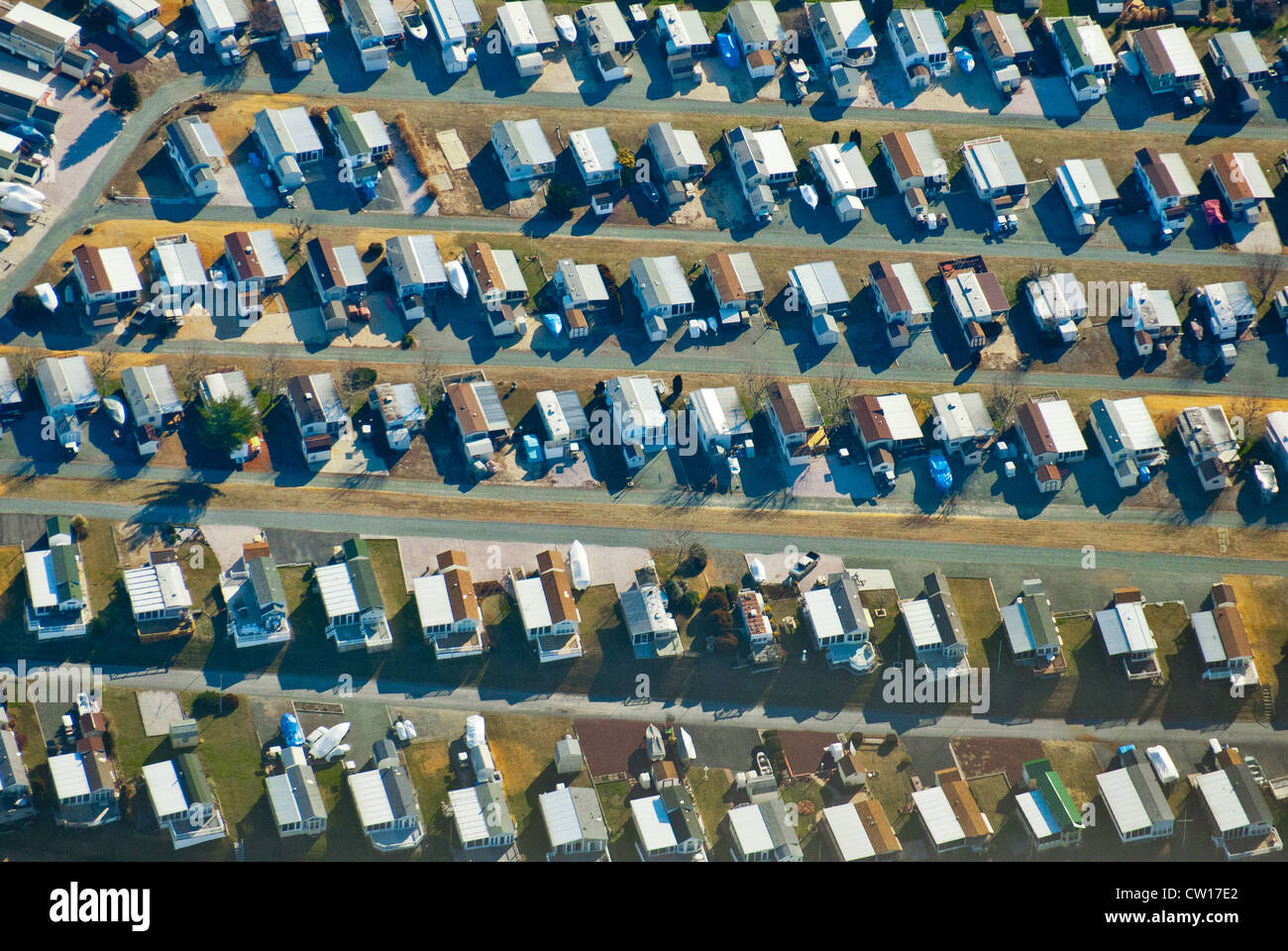 Aerial view of suburbs - Stock Image