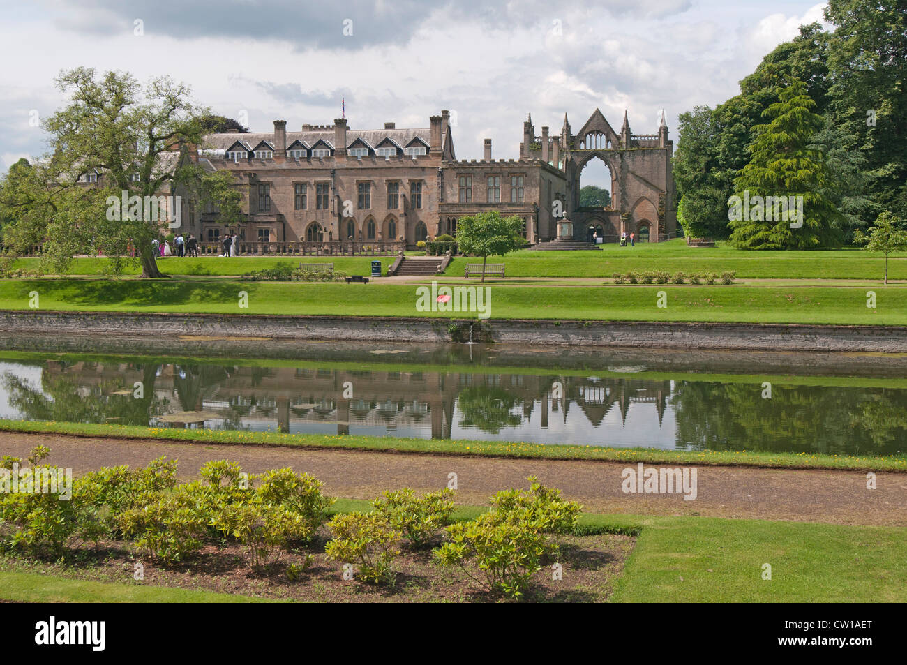 Newstead Abbey & Ruins, Nottinghamshire, England, UK - Stock Image