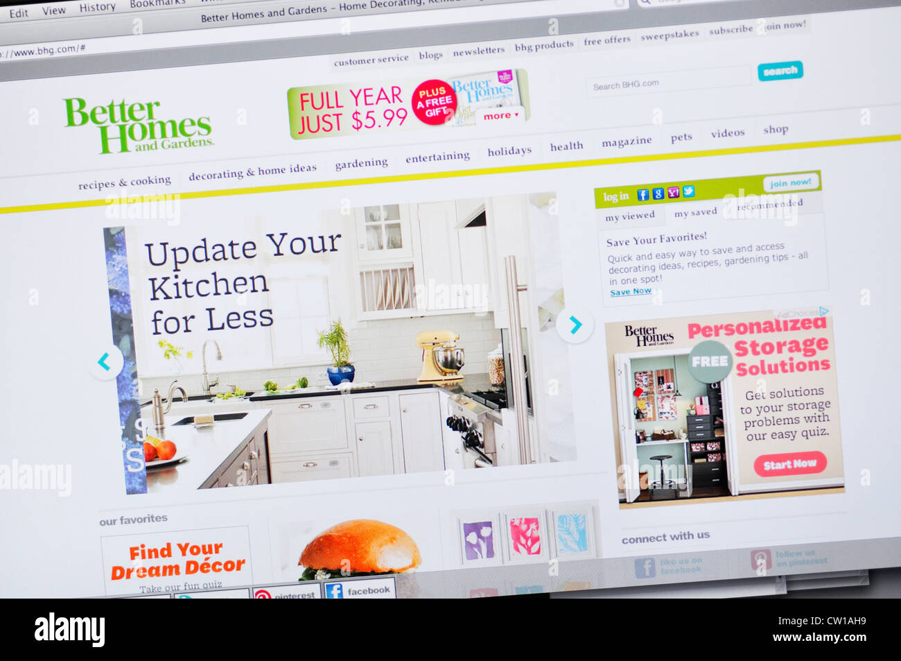Better Homes And Gardens Website   Stock Image