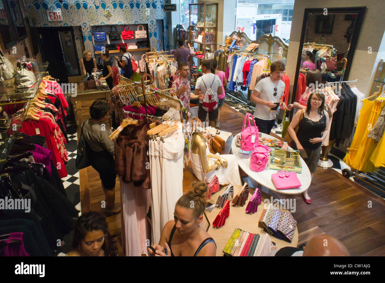 980ab7e3756bba Customers flock to the grand opening of the new Ted Baker clothing store on Fifth  Avenue