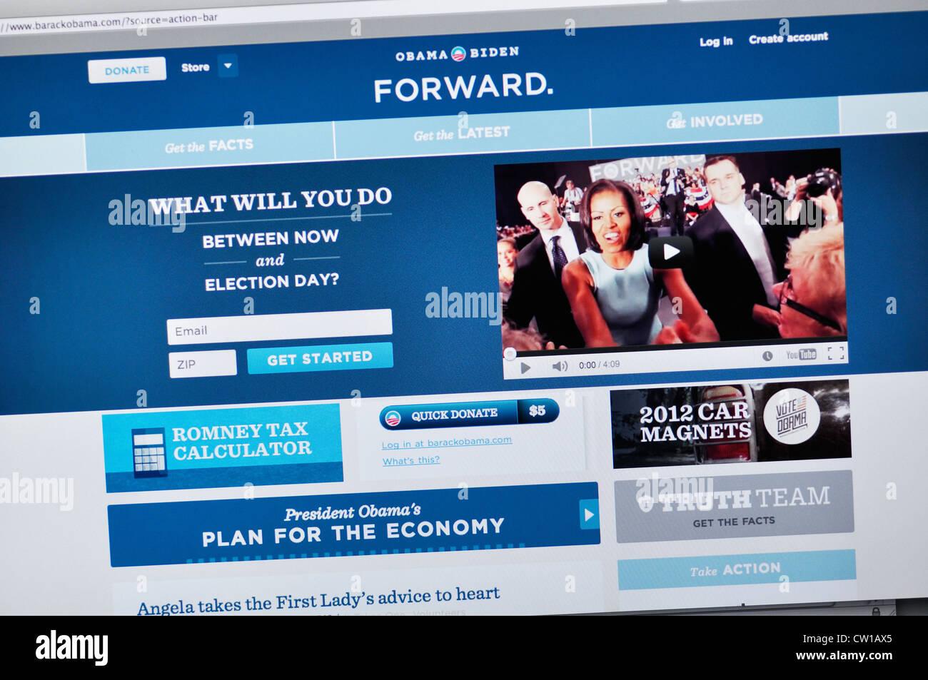 Barack Obama website - Stock Image