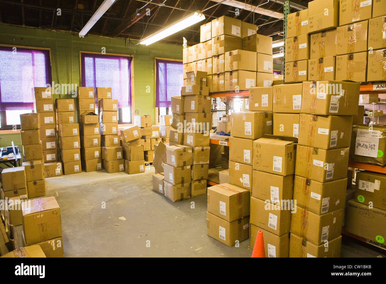 Boxes Stacked Up At Small Business Stock Photo 49818255