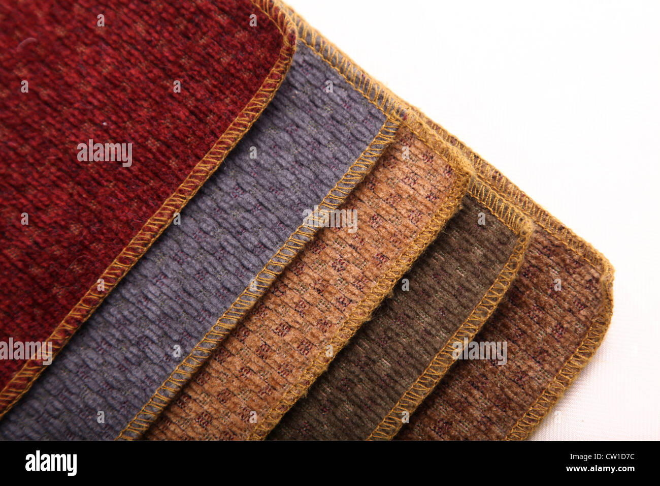 A book of upholstery samples. - Stock Image