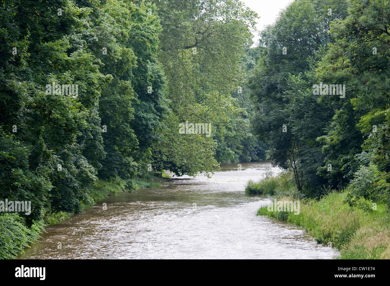Europe, Germany, Rhineland, area of Bonn, district of Ahrweiler, Bad Neuenahr, the stream Ahr - Stock Image