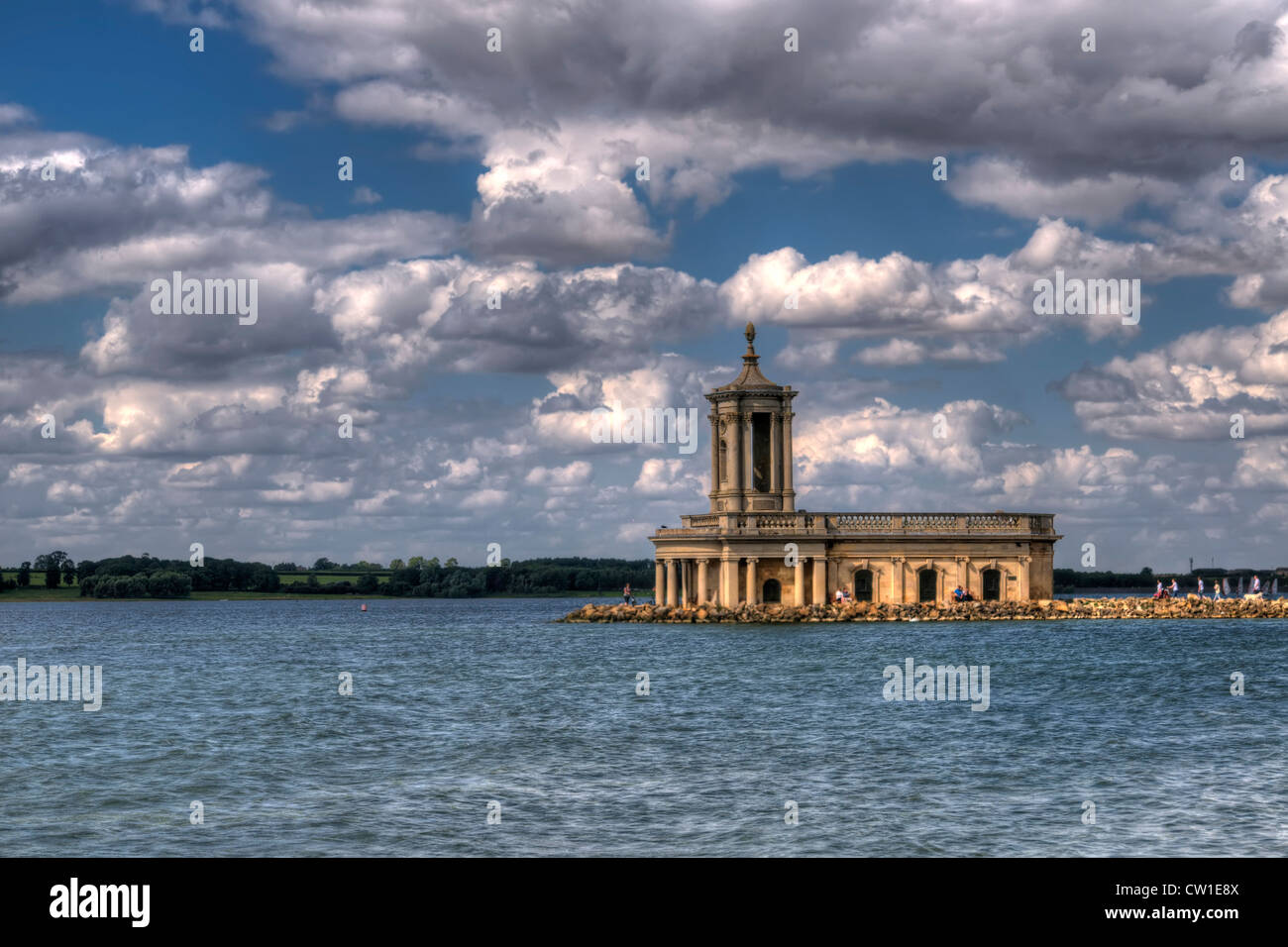 HDR of The Normanton Church Museum at Rutland Water, Nr Oakham Leicestershire, England, UK - Stock Image
