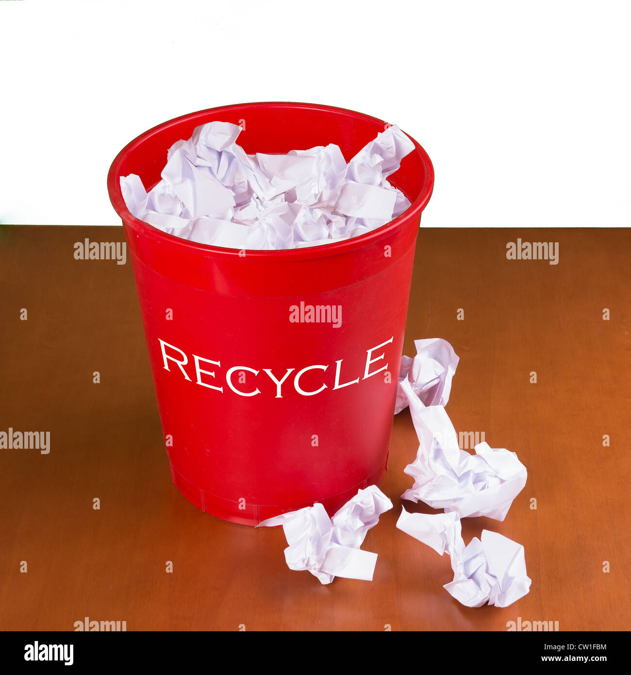recycle basket - Stock Image