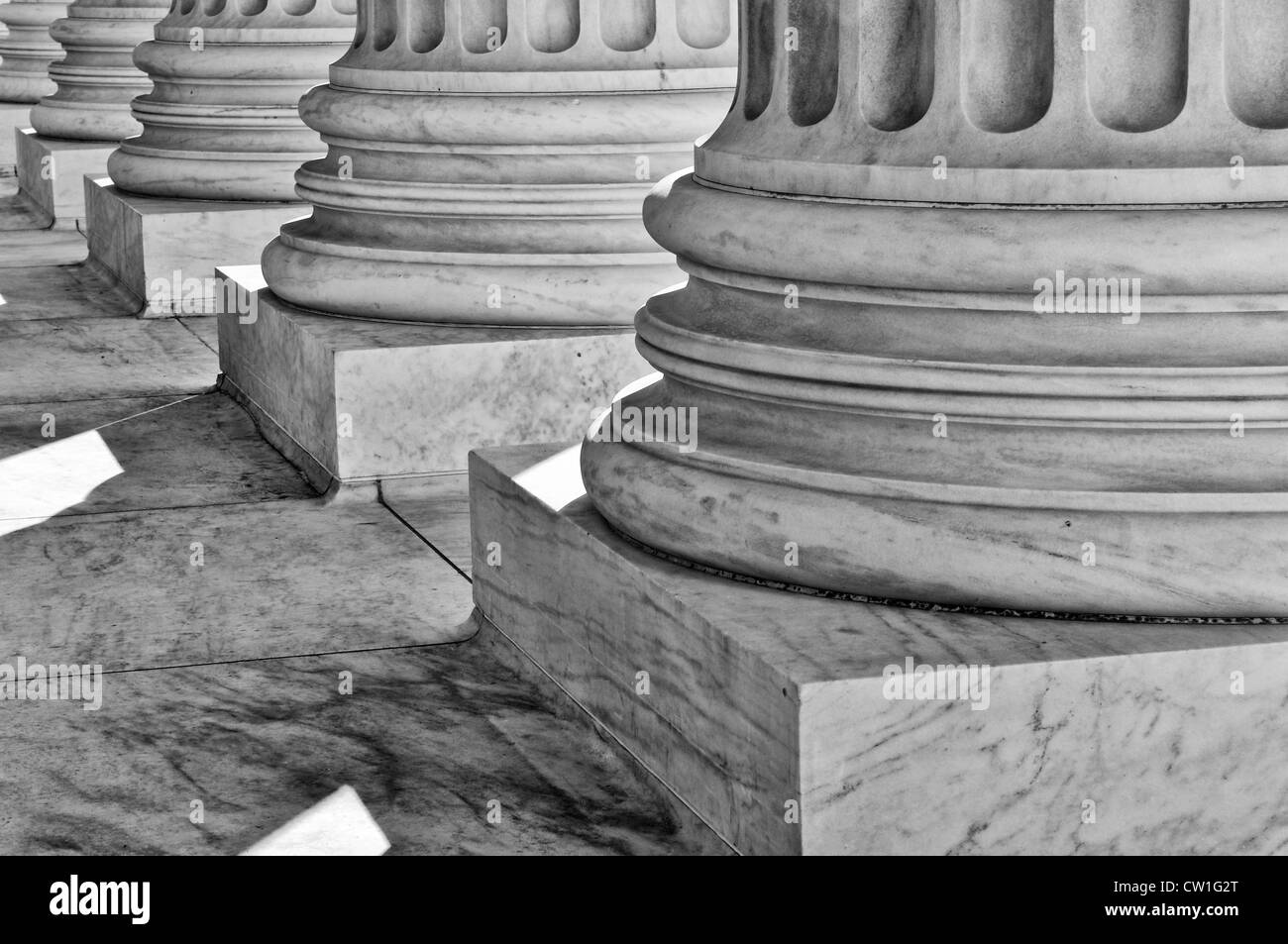 Pillars of Law and Justice - Stock Image