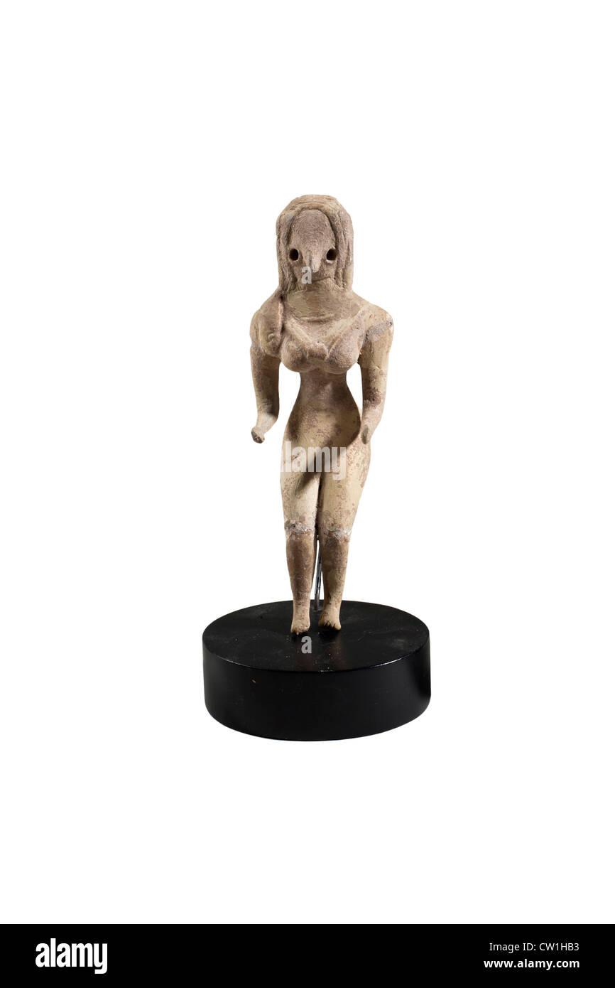 3rd millennium BCE terracotta fertility figurine - Stock Image