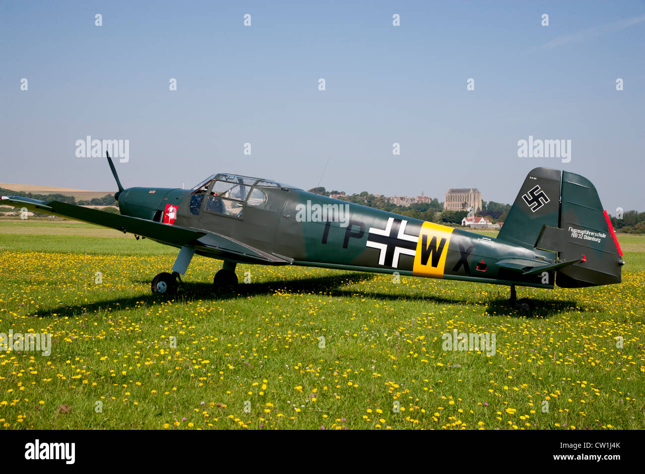 World War Two German Training Aircraft Stock Photo: 49823331