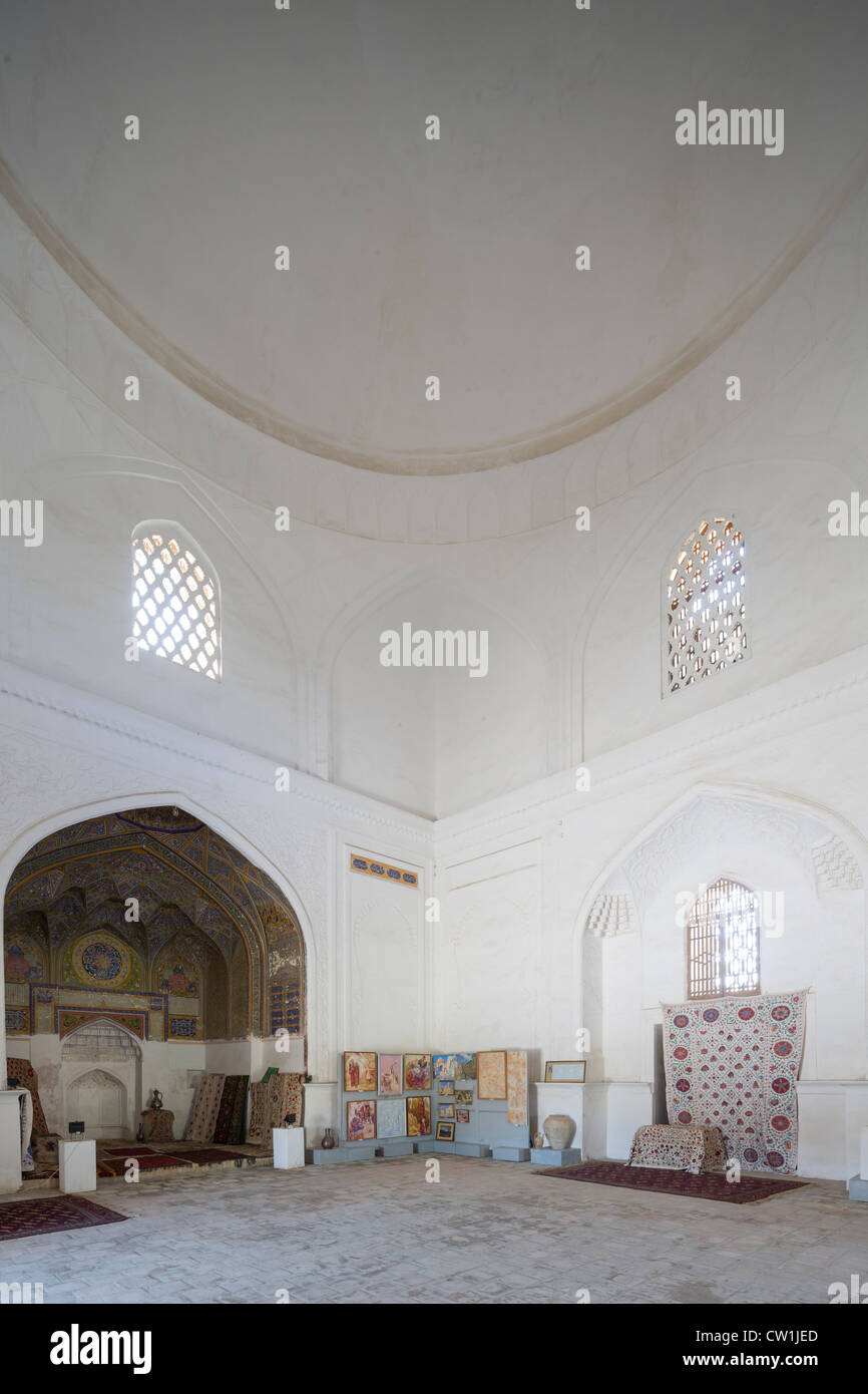 Khanaka of Nadir Divan Beg, Lab-i Hauz complex, Bukhara, Uzbekistan - Stock Image