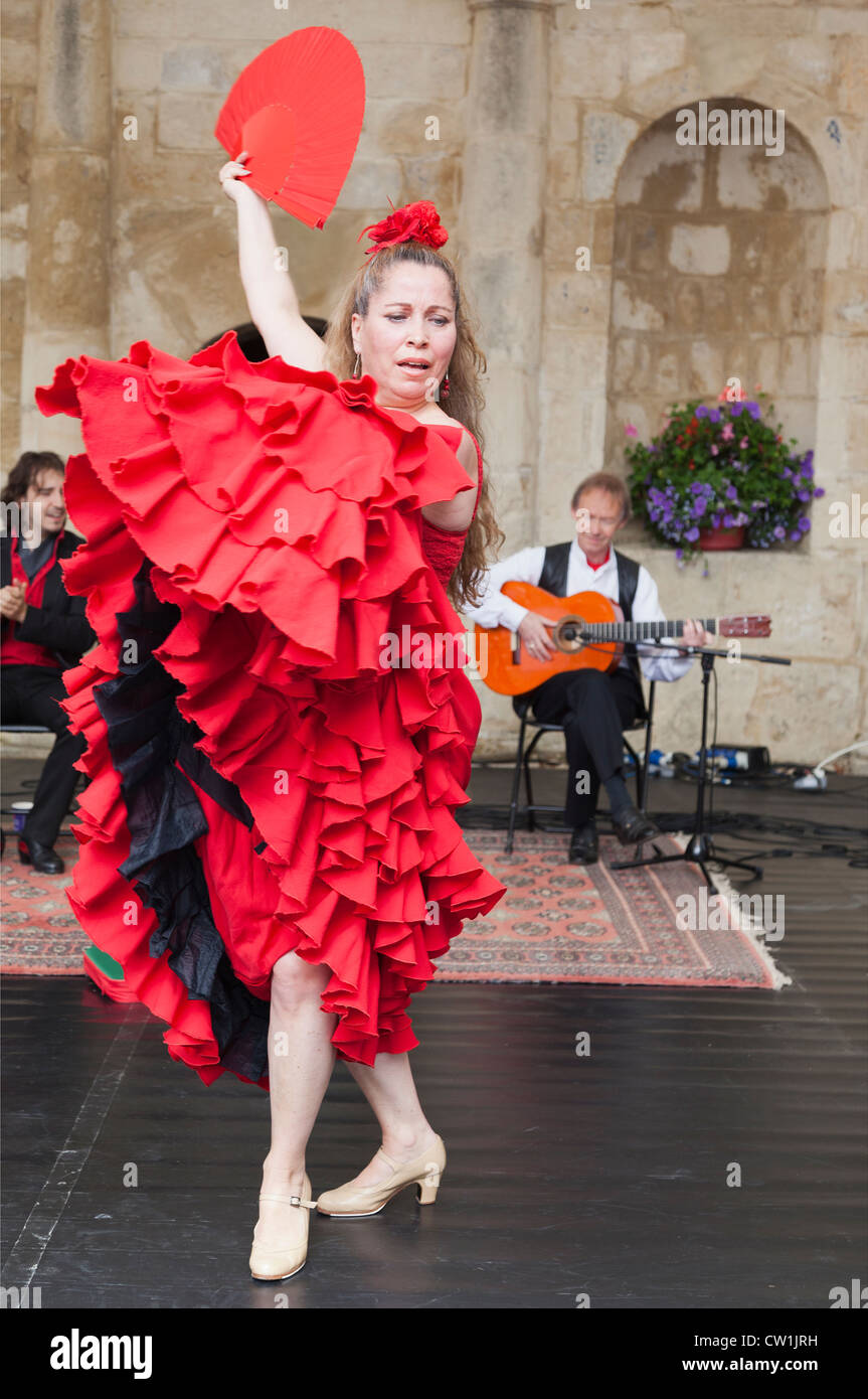 Flamenco dancer at the Waterperry Arts in Action 2012, Oxfordshire England 40 - Stock Image