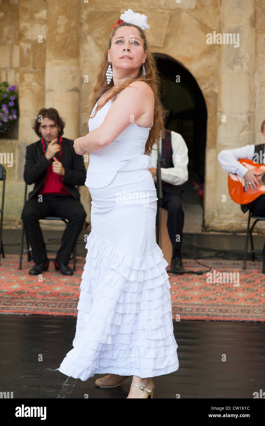 Flamenco dancer at the Waterperry Arts in Action 2012, Oxfordshire England 25 - Stock Image