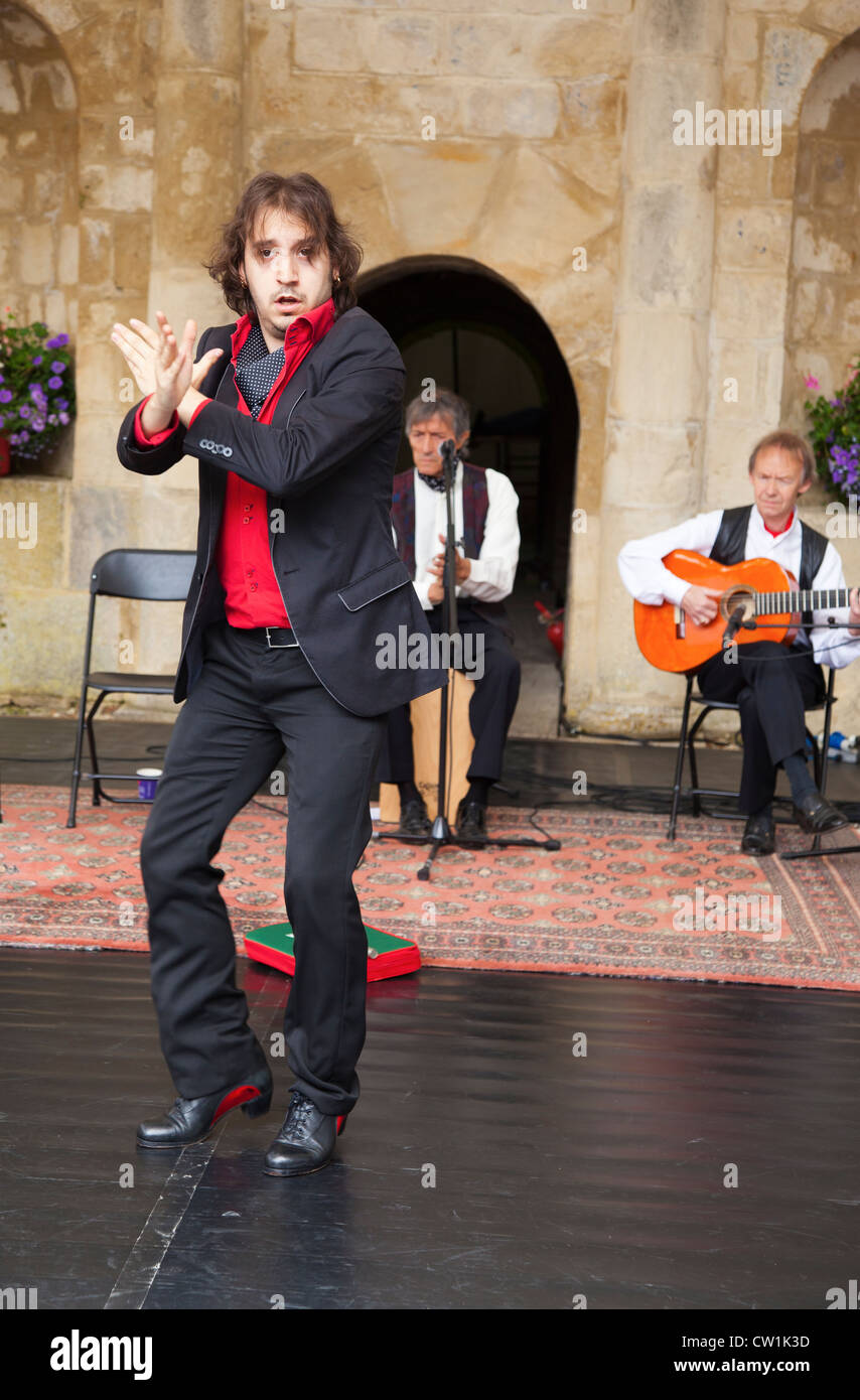 Flamenco dancer at the Waterperry Arts in Action 2012, Oxfordshire England 21 - Stock Image