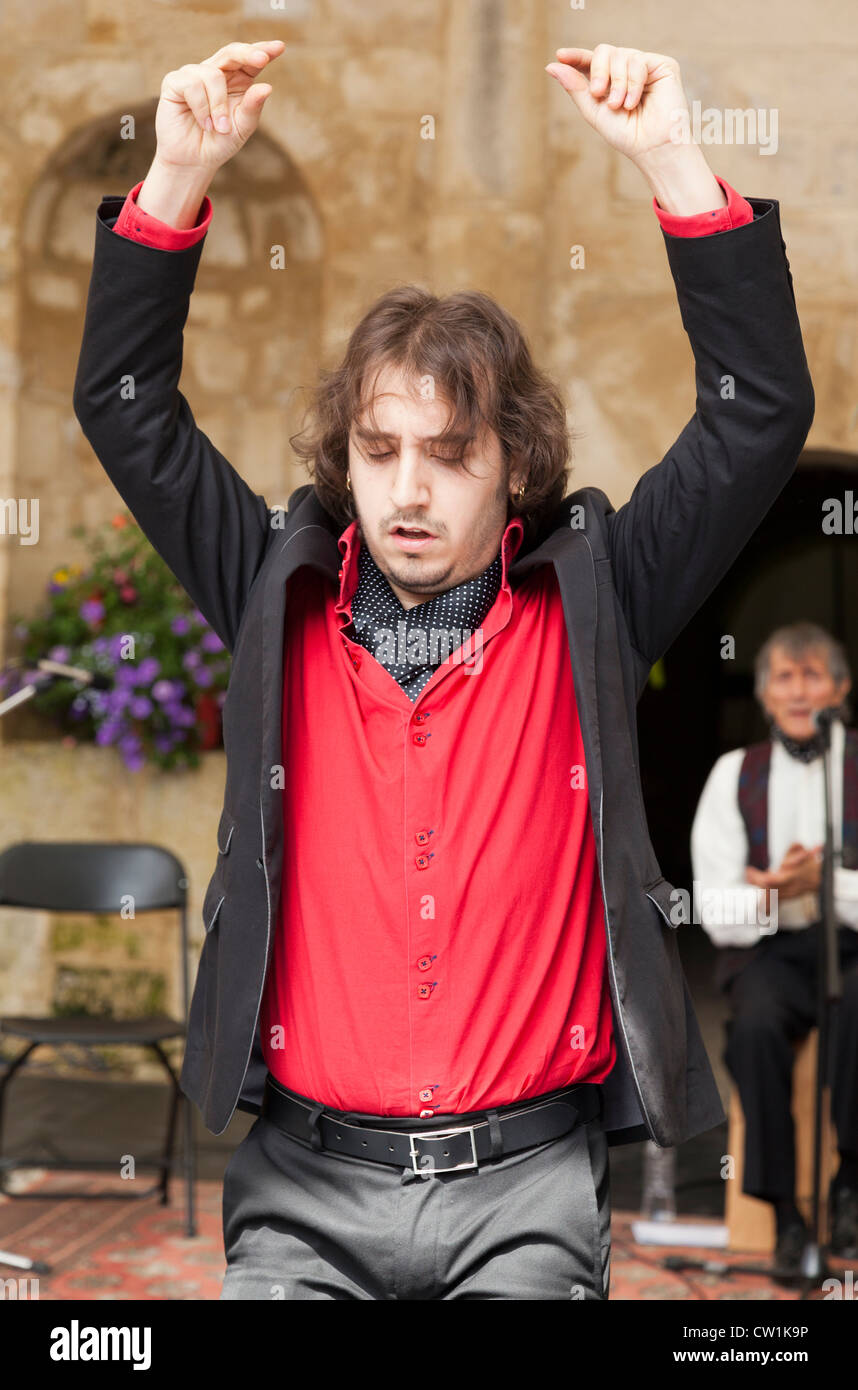 Flamenco dancer at the Waterperry Arts in Action 2012, Oxfordshire England 7 - Stock Image