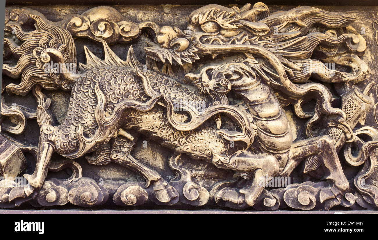 dragon, animals in mythology beliefs of the Chinese people. - Stock Image