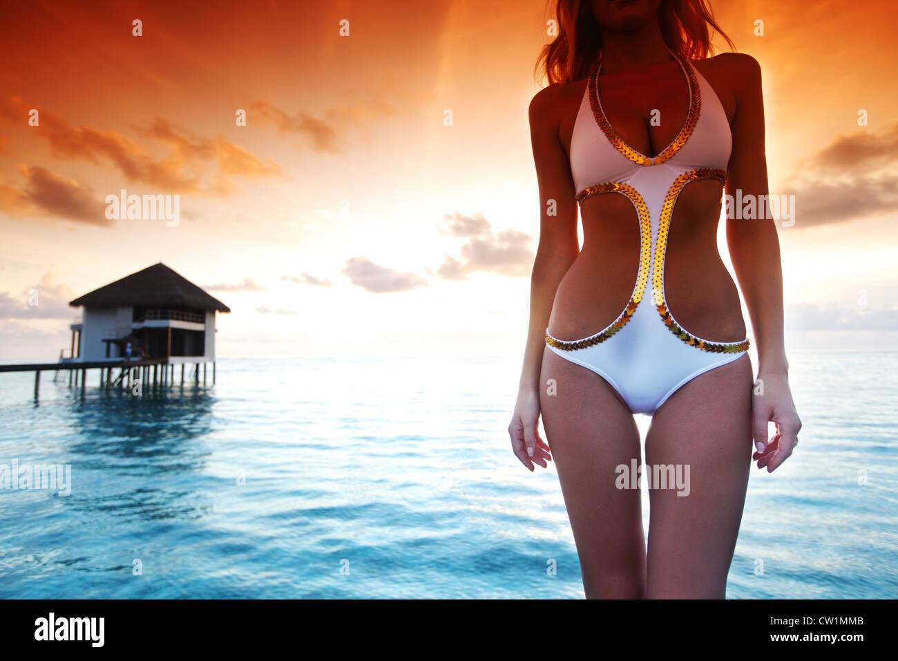 Asian women bikini bridge useful