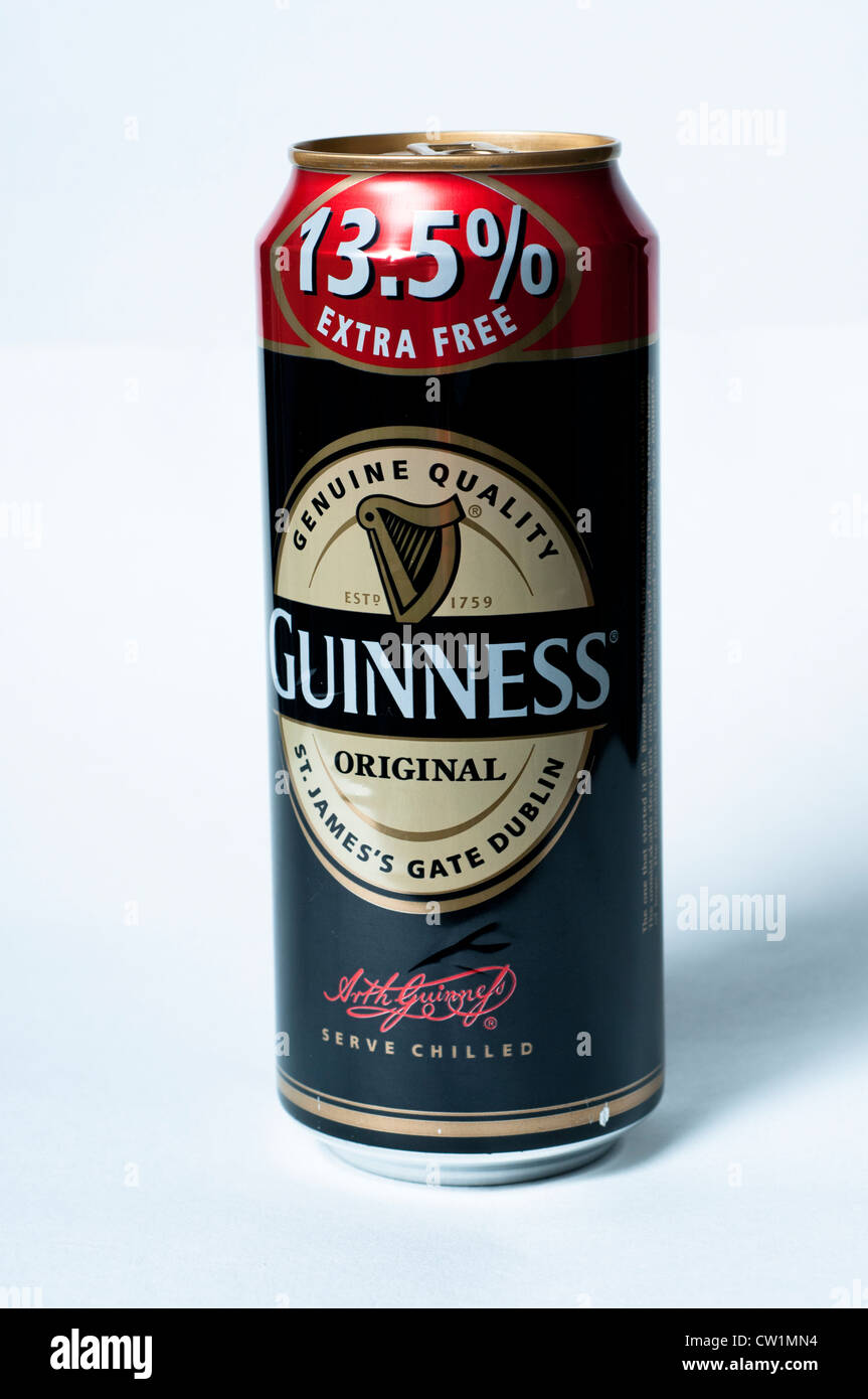 Guinness can - Stock Image