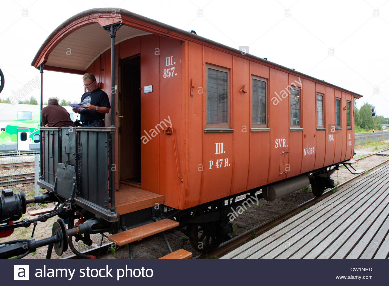Old 3rd Class passenger car from the 1800's. - Stock Image