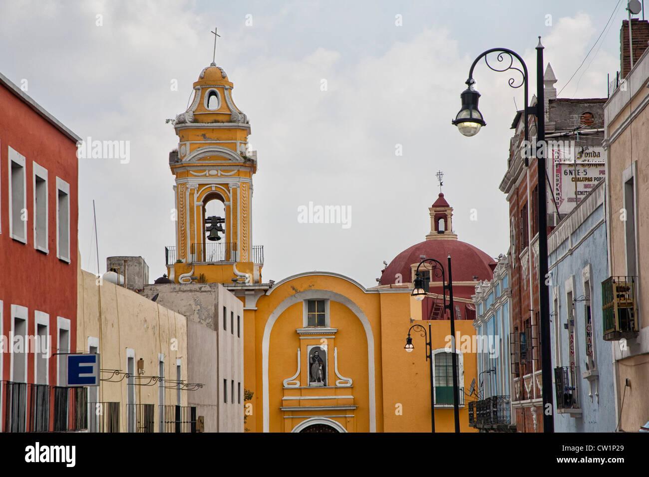 Church in Puebla, Mexico - Stock Image