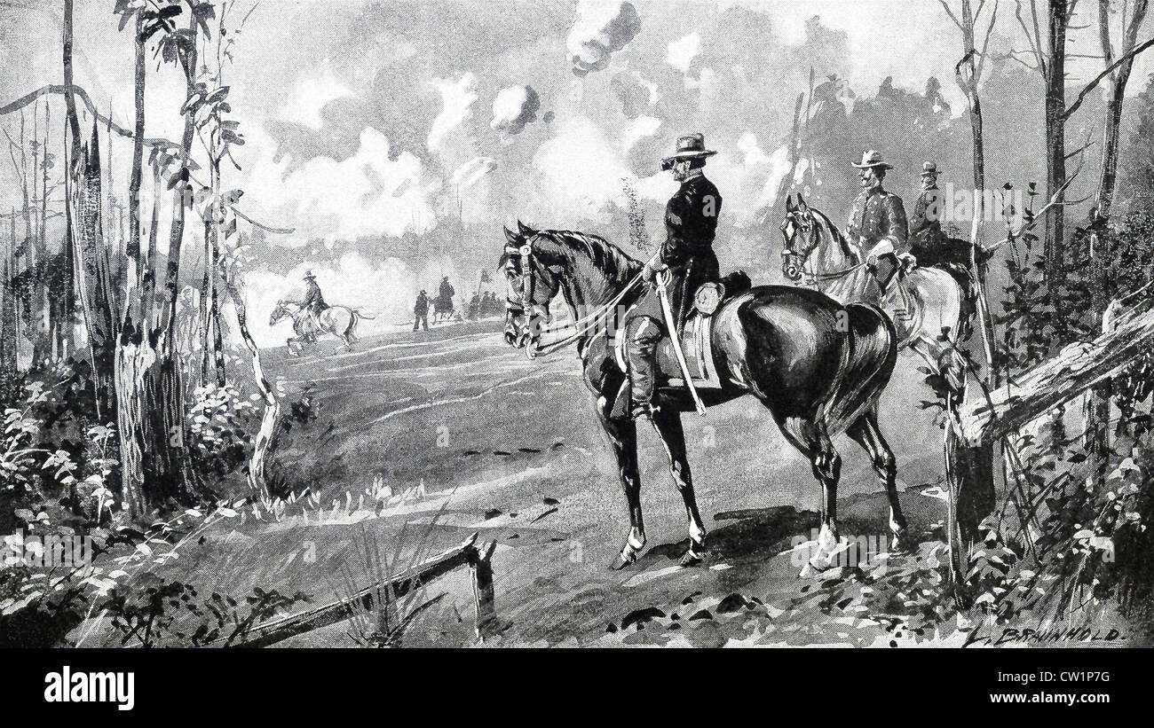 The Battle of Shiloh, also known as the Battle of Pittsburgh Landing, was fought on April 6-7, 1862 in southwestern - Stock Image