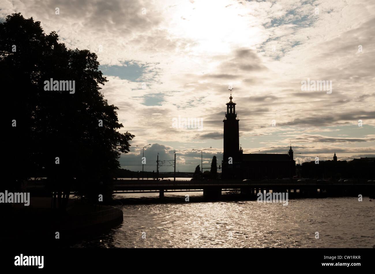 The City Hall of Stockholm - Stadshuset - Sweden - Stock Image