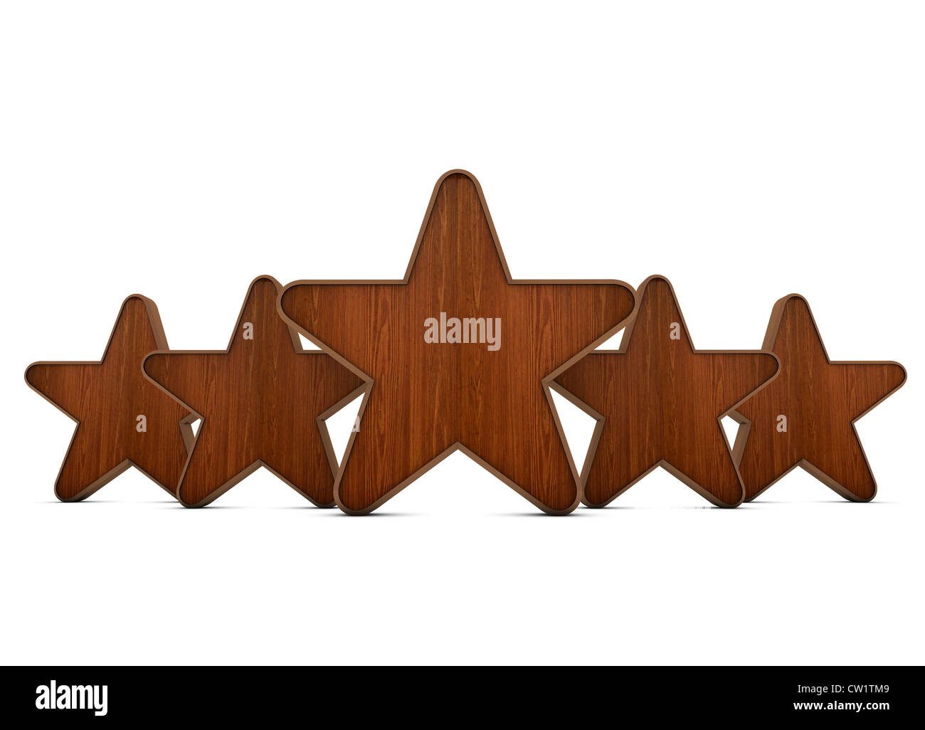 3d Wooden Stars On White Background Stock Photo 49828473 Alamy