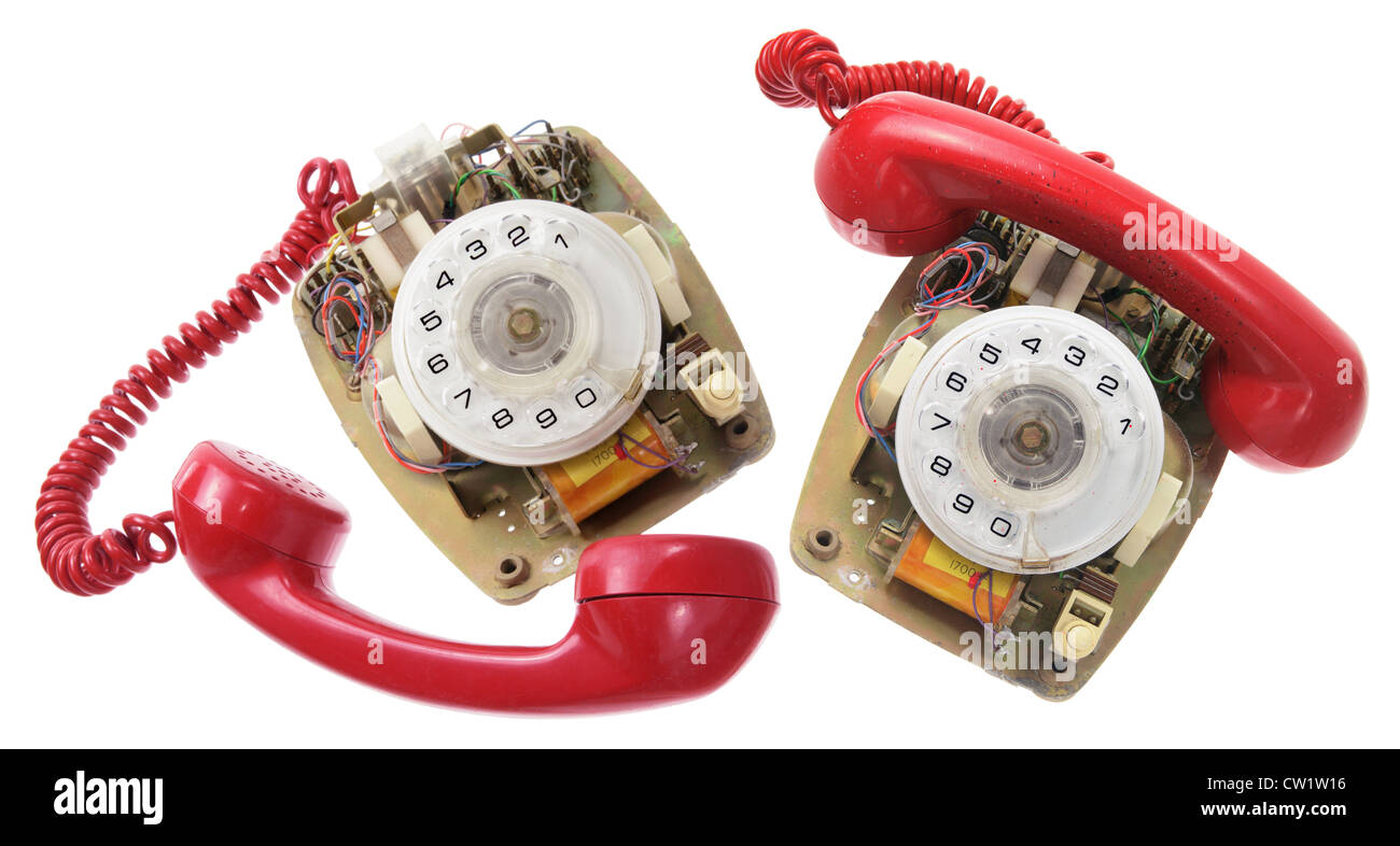 Old Dial Phones - Stock Image