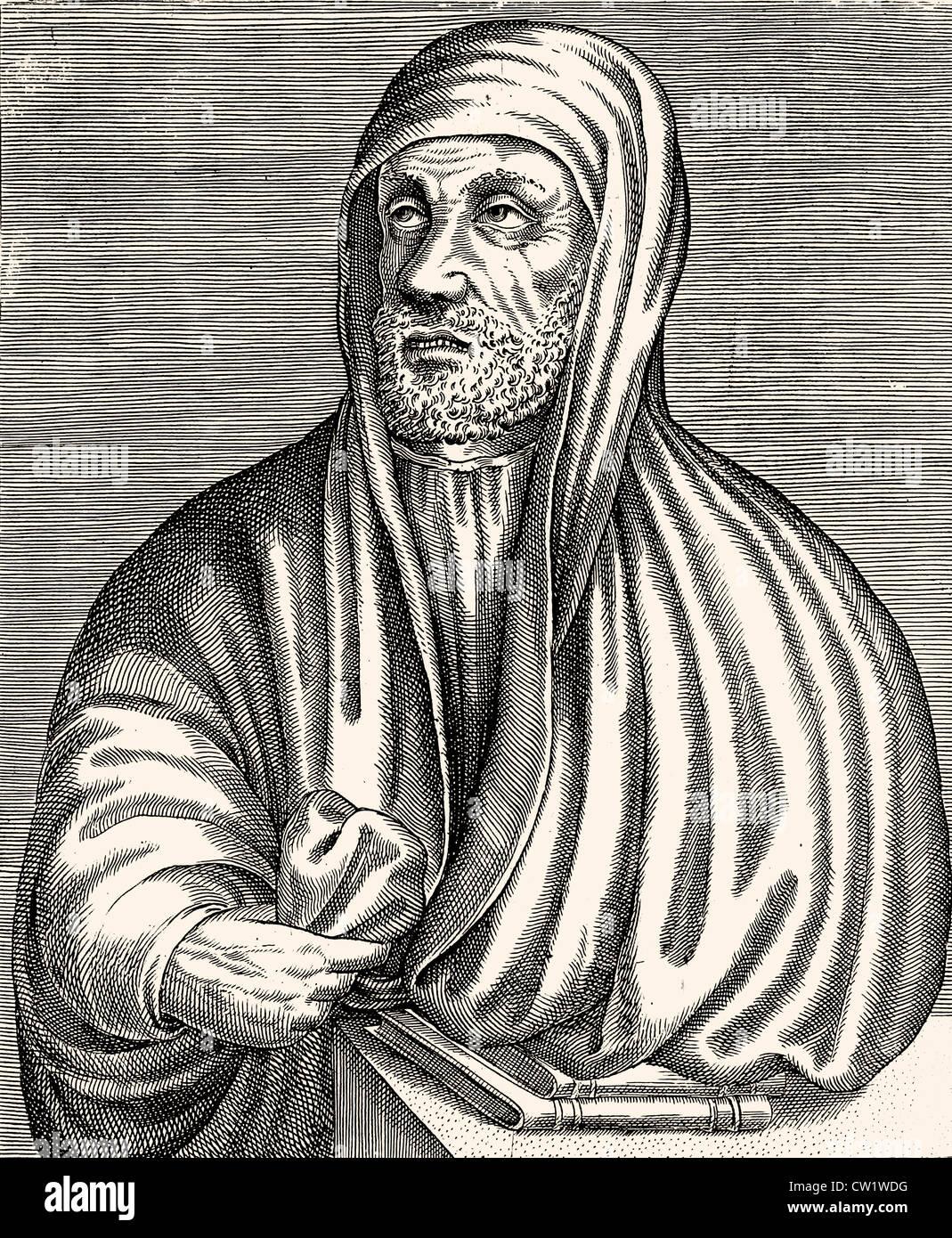 Abu- Ali- al-Husayn ibn Abdullah ibn Si-na- - Stock Image