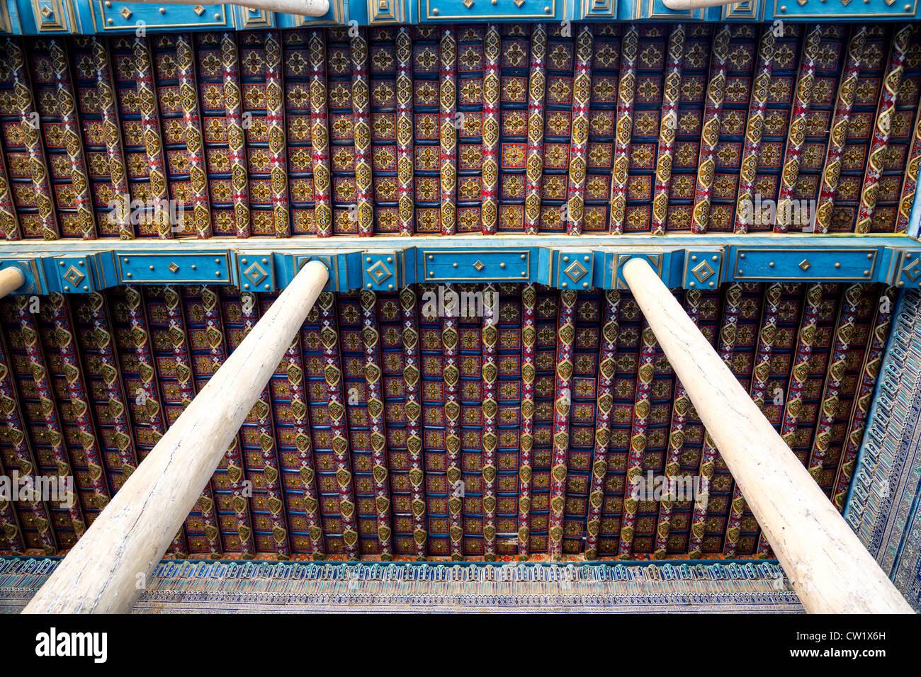 Detail Of Painted Wooden Ceiling The Citadel Kuhna Arg Kunya Ark