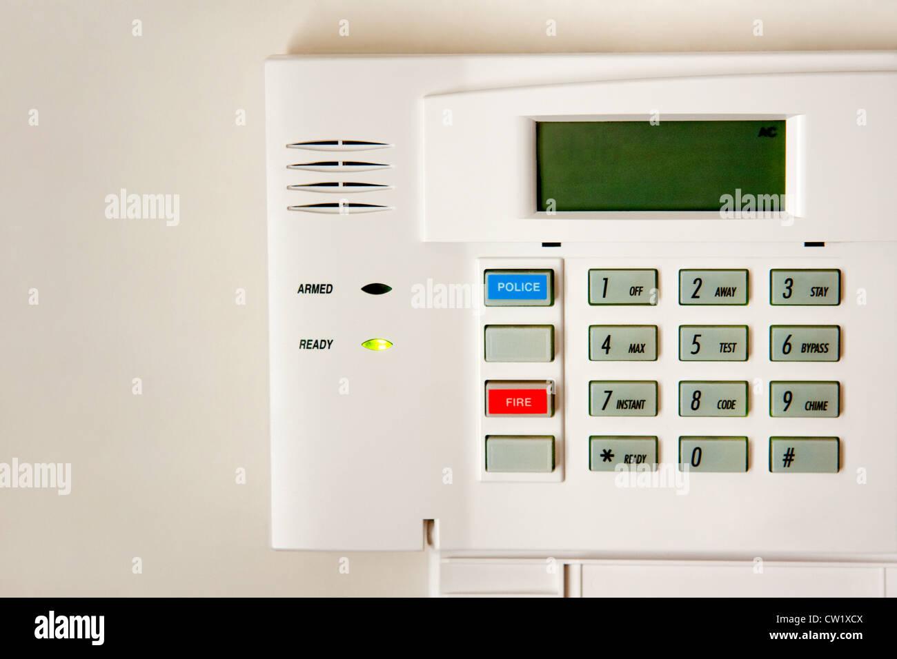 Alarm system unit - Stock Image