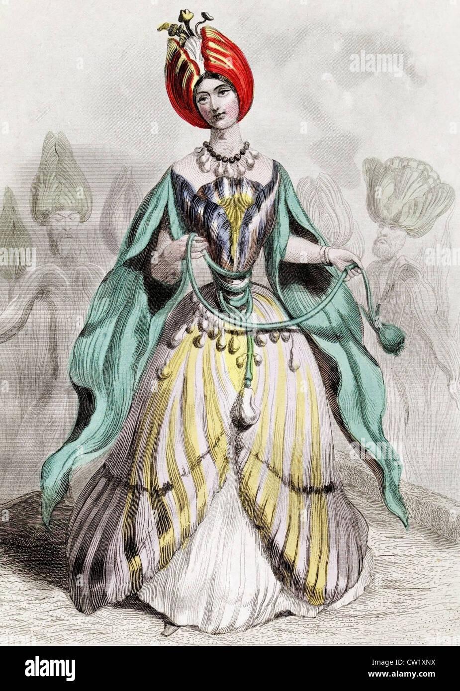 Tulip detail - Stock Image