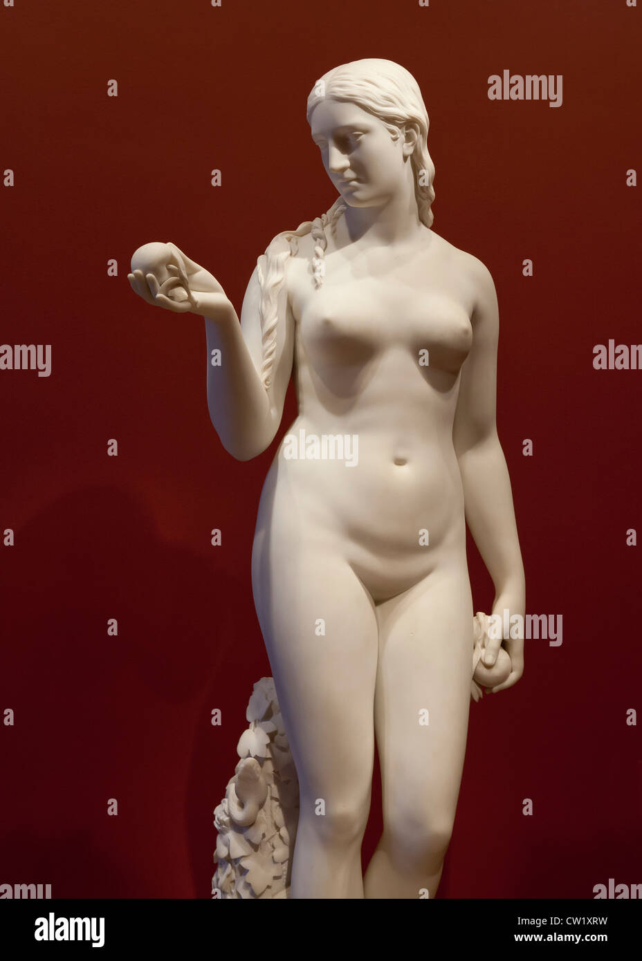 """""""Eve Tempted"""" marble sculpture by Hiram Powers, 1839 Stock Photo"""