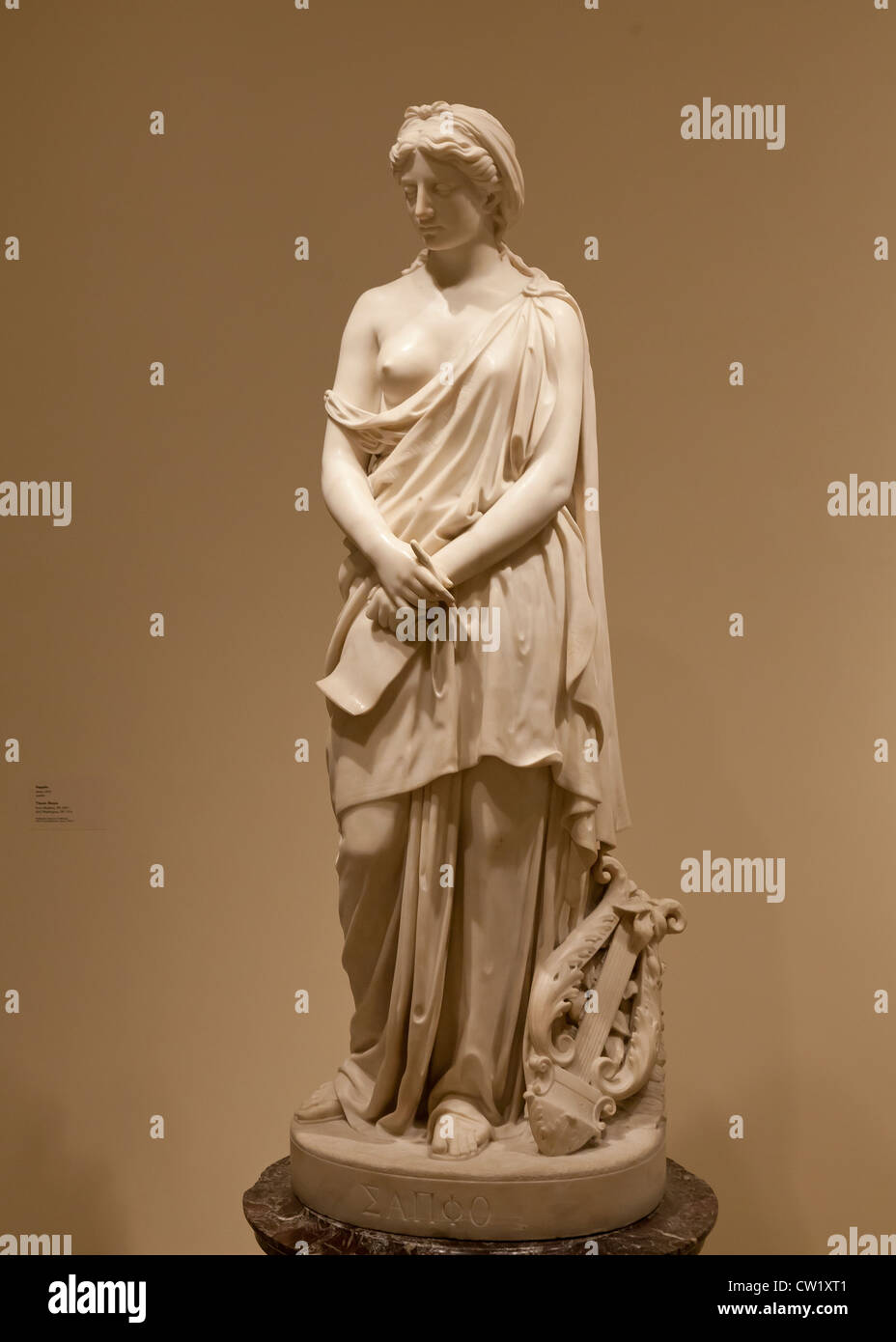 """""""Sappho"""" marble sculpture by Vinnie Ream, 1870 Stock Photo"""